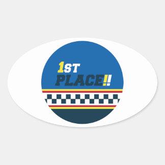 1st Place - Pole Position Oval Sticker