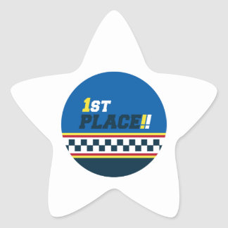 1st Place - Pole Position Star Sticker