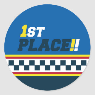 1st Place - Pole Position Classic Round Sticker