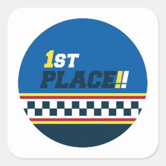 1st Place - Pole Position Square Sticker