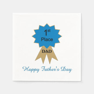 1st Place Ribbon Father's Day Paper Napkins