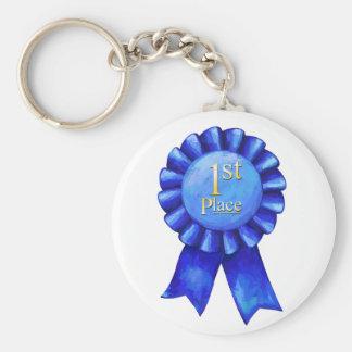 1st Place Ribbon Key Chain
