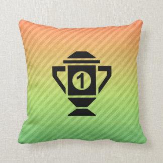 1st Place Trophy Design Throw Pillow