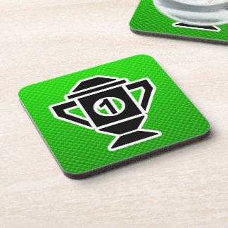1st Place Trophy; Green Drink Coasters