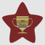 1st Place Trophy Star Sticker
