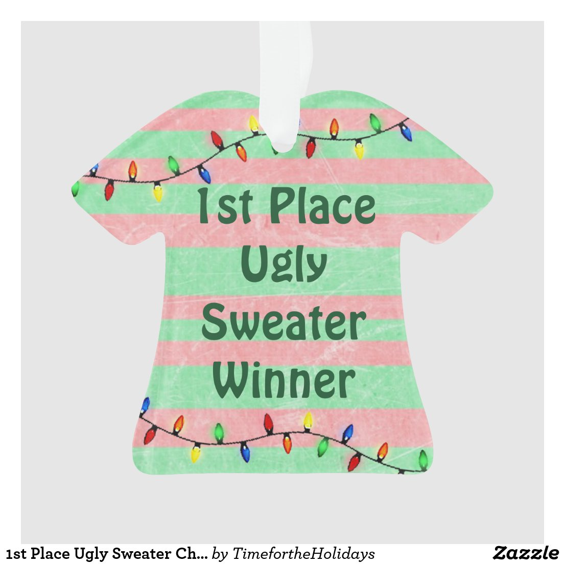1st Place Ugly Sweater Christmas Ornament