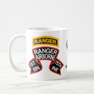 1st Ranger Battalion old-style scroll with tab Coffee Mug