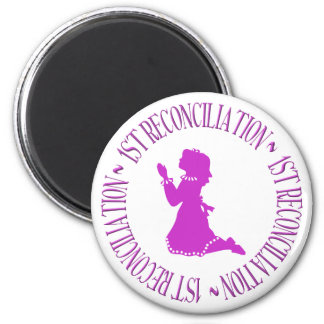 1st Reconcilation - First Confession (girl) 2 Inch Round Magnet