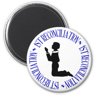 1st Reconcilation - First Confession 2 Inch Round Magnet