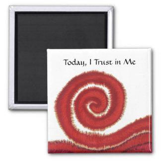 1st-Root Chakra #1- hoy, confío en en mí Imán Cuadrado