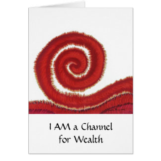 1st-Root Chakra#1: Money-I Am a Channel for Wealth Card