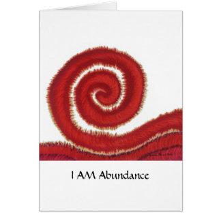 1st-Root Chakra #1: Money: I Am Abundant Card