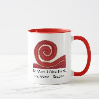 1st-Root Chakra #1: The More I Give Freely... Mug
