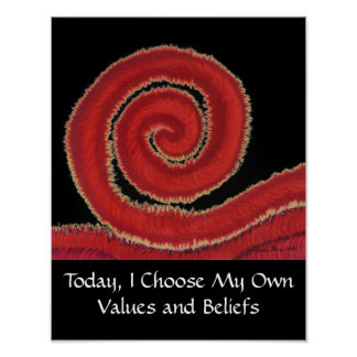 1st-Root Chakra #1:Today, I Choose My Own Values.. Poster