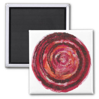 1st-Root Chakra Red Paint-Fabric #2 Magnet