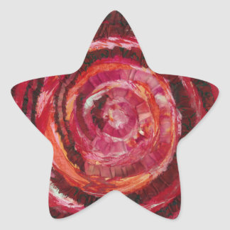 1st-Root Chakra Red Paint-Fabric #2 Star Sticker