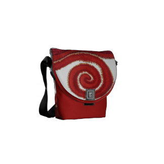 1st-Root Chakra Red Spiral Artwork #1 Courier Bag