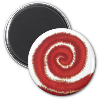 1st-Root Chakra Red Spiral Artwork #1 Magnet