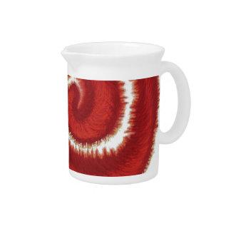 1st-Root Chakra Red Spiral Artwork #1 Pitcher