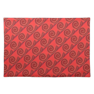 1st-Root Chakra Red Spiral Artwork #1 Placemat