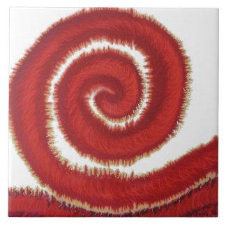 1st-Root Chakra Red Spiral Artwork #1 Tile