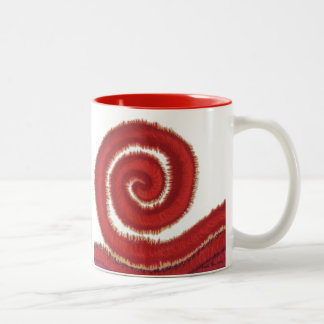 1st-Root Chakra Red Spiral Artwork #1 Two-Tone Coffee Mug