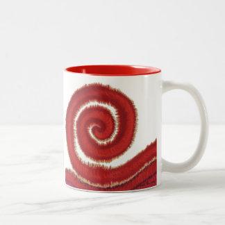 1st-Root Chakra Red Spiral Artwork #1 Two-Tone Coffee Mug
