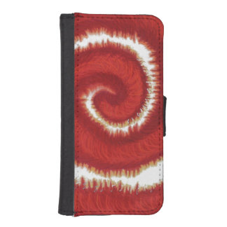 1st-Root Chakra Red Spiral Artwork #1 Wallet Phone Case For iPhone SE/5/5s