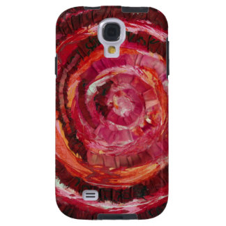 1st-Root Chakra Red Spiral Fabric-Paint #2 Galaxy S4 Case
