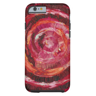 1st-Root Chakra Red Spiral Fabric-Paint #2 Tough iPhone 6 Case