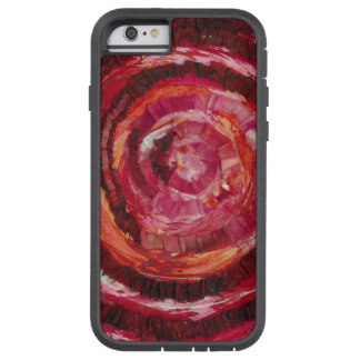 1st-Root Chakra Red Spiral Fabric-Paint #2 Tough Xtreme iPhone 6 Case