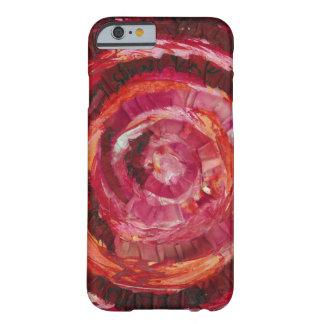 1st-Root Chakra Red Spiral Paint-Fabric #2 Barely There iPhone 6 Case