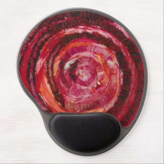 1st-Root Chakra Red Spiral Paint-Fabric #2 Gel Mouse Pad
