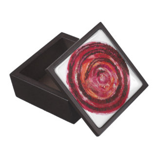 1st-Root Chakra Red Spiral Paint-Fabric #2 Gift Box
