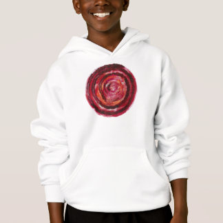 1st-Root Chakra Red Spiral Paint-Fabric #2 Hoodie