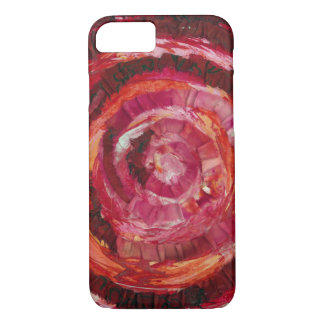 1st-Root Chakra Red Spiral Paint-Fabric #2 iPhone 8/7 Case