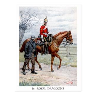 1st Royal Dragoons Postcard