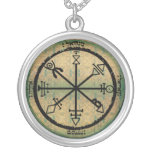 1st seal of venus round pendant necklace