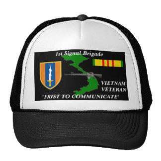"1st Signal Brigade""1st to Communicate"" Ball Caps Trucker Hat"