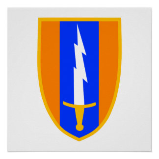 1st Signal Brigade Shoulder Patch Posters
