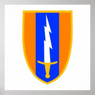 1st Signal Brigade Shoulder Patch Poster