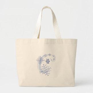 1st Snow Fall Jumbo Tote Bag
