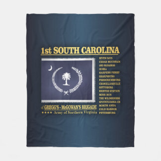 1st South Carolina Infantry (BA2) Fleece Blanket