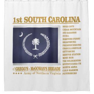 1st South Carolina Infantry (BA2) Shower Curtain