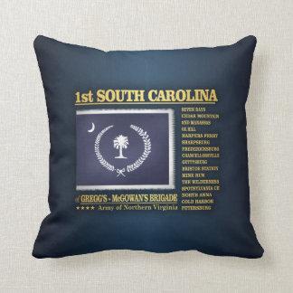 1st South Carolina Infantry (BA2) Throw Pillow