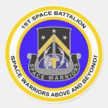 1st Space Battalion Round Stickers