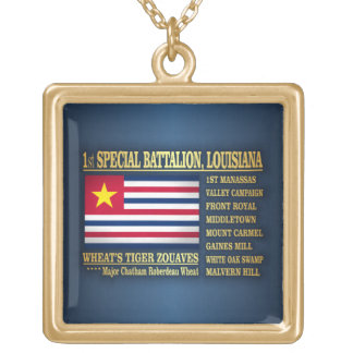 1st Special Battalion, Louisiana Infantry (BA2) Gold Plated Necklace