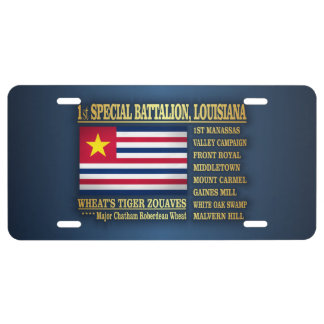 1st Special Battalion, Louisiana Infantry (BA2) License Plate