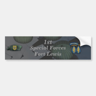 1st special forces Fort Lewis Bumper Sticker