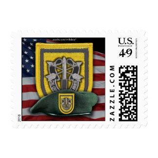 1st special forces Green Berets flash postage stam